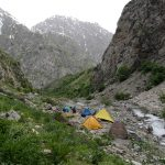 Camping in kamarob, Gharm valley