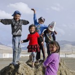 Kyrgiz nomadic kids in Alichur Valley, Pamir