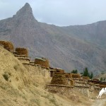 zarafshani houses in Ayni District, Tajikistan