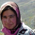 yagnobi girl in yagnob valley, tajikistan