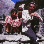 old photos, yagnobi family, yagnob valley, tajikistan