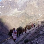old photos, yagnobi women, yagnob valley, tajikistan