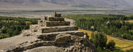 Buddha Stupa in Vrang Village, Wakhan Valley, Pamir