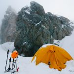 Camping on the Chimtarga summint, Fann Mountains