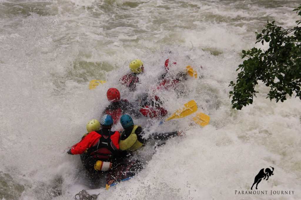 white water rafting in Tajikistan