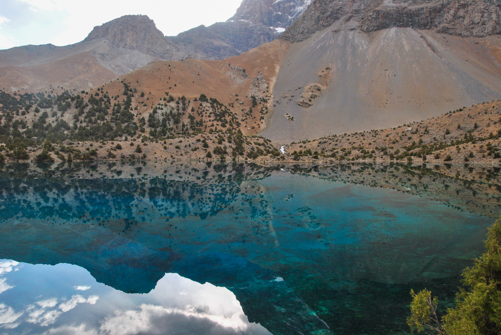 A blue water of alauddin lake in Fann mountains